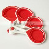 100% FDA free Kitchen silicone measuring cup spoon set                                                                         Quality Choice