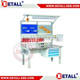 Detall stainless steel work bench with drawer