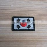 South Korea flag 3D logo pvc label patch