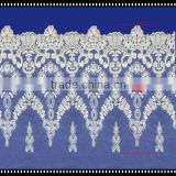 Beautiful white color saree embroidery lace