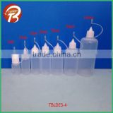 5ML 10ML 15ML 20ML 30ML 50ml 100ml semitransparent LDPE e liquid empty bottles with stainless needle cap TBLDES-4
