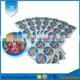 Customized Glossy Adhesive Copperplate Paper Cartoon Character Stickers