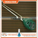 Soil thermometer with metal sensor probe w/ wet&dry showed green plastic housing cheap price accurate read temperature
