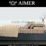 200TC100%cotton pigment printed check design fabric for duvet cover/ Bed linen/ home textile
