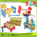 2016 New Design Kids Educational Wooden Tool Toy Set Pounding Bench Children Toy Direct from China