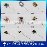 Low MOQ Online Shopping Mixed Designs Various Cheap Muslim Islam Brooch Hijab Pins P0046
