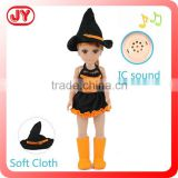 2015 new product 18 inch Cute witch baby doll halloween costume