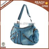 TB0284 Denim Shoulder Luggage Bag Folding Travel Bag                                                                         Quality Choice