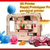 3d printer Maker-Bot Replicator rapid prototyping printer personal desktop printer model/art works 3 dimension printer