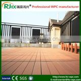 wpc interlocking decking tiles/outdoor deck floor covering/Anti-slip factory price WPC decking flooring board
