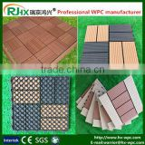 WPC interlocking decking tiles for pool deck tiles/DIY style wood plastic composite deck flooring