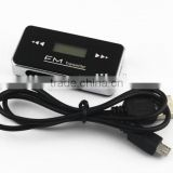 Car audio speakers mp3 player wireless fm transmitter 3.5mm jack with lcd for iphone ipad ipod cd smartphone modulator