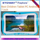 Best Sales Kids Tablet 7 inch tablet For Learning 800*480pixels(16:9) Best Children Tablet PC Android