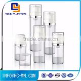 Wholesale 50ml empty plastic clear body airless lotion pump bottles for cosmetic packaging                                                                                                         Supplier's Choice