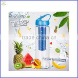 2016 New Protein Shaker Fruit Water Bottle Infuser Bpa Free Reusable Tritan Juice Bottle For Gym