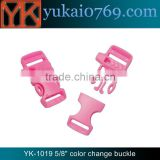 "Yukai 5/8"" plastic ribbon buckle/quick release whistle buckle/survival whistle buckle"