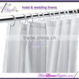 hotel shower curtain, stripe bath curtain in 2cm stripes(180*180cm), including plastic hooks