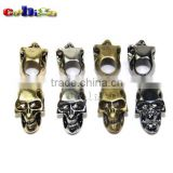 Charm Metal Skull For Paracord Knife Lanyards Paracord Buckle #FLQ053-A/B/C/D