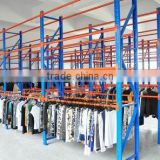 The warehouse steel clothes racking used in the production and warehouse areas