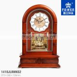 2014 Solid Wood Table Clock with Sweep Quartz movement clock