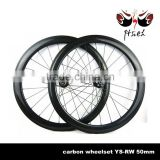 700C Aero 50mm 25mm carbon Disc clincher wheelset tubeless compatible, cyclo cross carbon Disc clincher wheelset