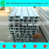 Electric product galvanized channel steel/cross arm overhead power line accessories, famous brand WEICHAUNG