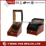 Material wood and velvet, metal accessories, automatic 2+3 watch rotating box&case, for wholesale