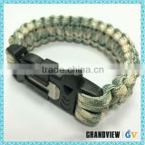 Widely used superior quality paracord survival bracelet with fire starter buckle