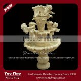Stone Carving Angel Boys Marble Water Fountain