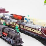 Small train tracks playsets long electric rail car simulation model of large children's toys