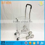 Guangzhou Made 3 wheel can climb stair trolley, heavy stair climbing trolley, shopping trolley cover