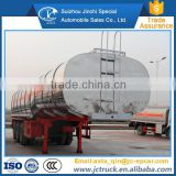 Diesel engine and Manual transmission Type three axle stainless steel cooking oil tank truck trailer supplier