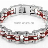 Fashion Links Chain Biker Bracelets 316L Stainless Steel Huge Motorbike Band Bangle for Rock Punk Mens Biker