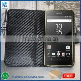 hot selling design for Sony Xperia Z5 case compact carbon/litchi/plain pattern design leather case