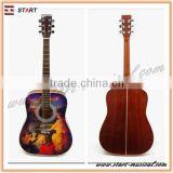 Professional Certificated Top Quality Plastic Round Back Acoustic Guitar