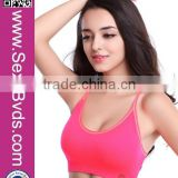Watermelon Red Custom Logo Design Yoga Sports Girl Tube Sexy Bra Wholesale                                                                                         Most Popular