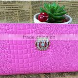 2016 Hot fashion crown double zipper woman wallet , leather wallet ,women purse China supplier