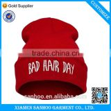 Chrismas Red Hat Cheap Wholesale Blank 100% Acrylic High Quality Custom Knitted Hat Winter Beanie Hat