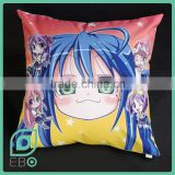 Anime cushion pillow back body pillow Lucky Star designer home decor custom printable