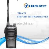 TD-V70 Dual band vhf/uhf walkie talkie long distance wireless tour guide system