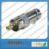 audio converter straight type adapter rca female jack to bnc male plug