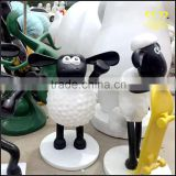Glass steel Sean the sculpture and painting cartoon animal Statue Park cartoon resin ornaments