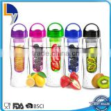Best quality products made in China new design factory sale plastic fruit infuser water bottle