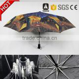 Old fashion tiki style umbrella with sleeve