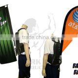 backpack flying movable outdoor banner advertising