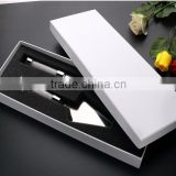 Wholesale Friendly Feature elegant stainless steel cake hot knife foam sets with block diamond for party