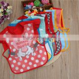 Cute pattern OEM service supply type cotton baby bandana drool bibs with snaps