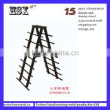 double side black board ceramic tile display shelf HSX-S669