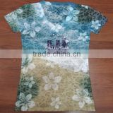 2015 top fashion design full print 3d women t shirts,transparent sexy girl sublimation printing t-shirt wholesale china