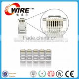Owire Cat5e CAT6 CAT7 RJ45 Connector For Stranded Solid network cable 8P8C Gold Plated RJ45 Plug unshield connectors
